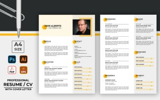 Resume Format CV Template with Cover Letter