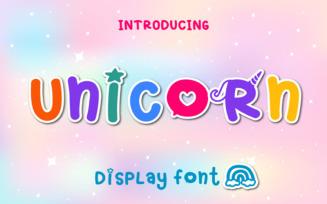 Unicorn Font Template