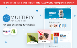 Multifly Pet Care Shop Template Shopify Theme