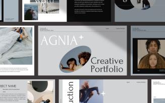 AGNIA Creative Portfolio Google Slides