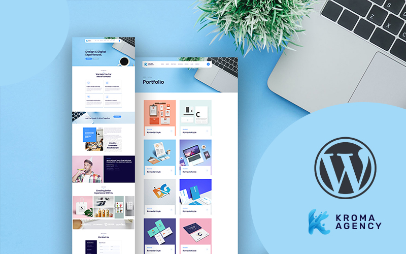 Kroma | Creative Multipurpose WordPress Theme Tema WordPress №166943