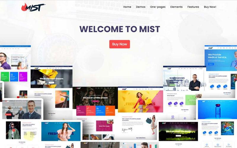 """Mist | The Business Multi-Purpose HTML5 Website Template"" 响应式网页模板 #166938"