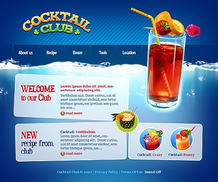 Creare site cocktail club
