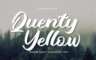 Quenty Yellow Font