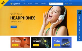 Cybemic - eCommerce PSD Template