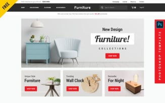 Furniture - eCommerce PSD Template