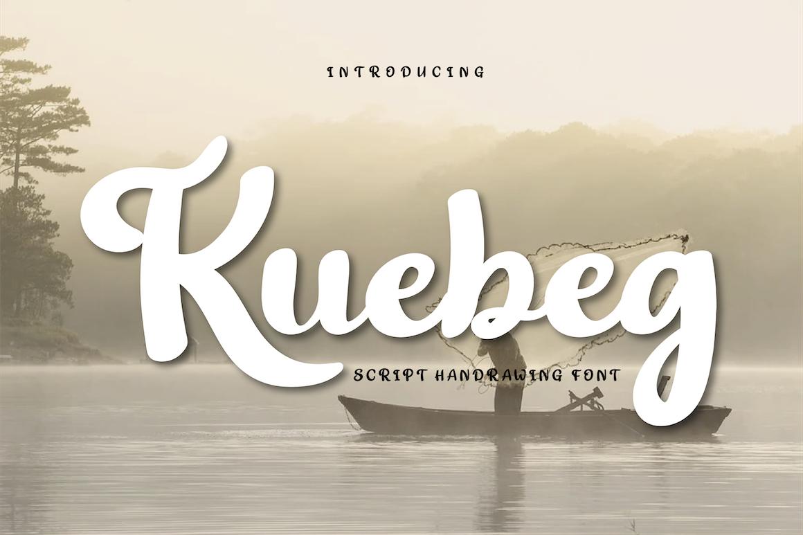 """""""Kuebeg Font"""" Lettertype №167108"""