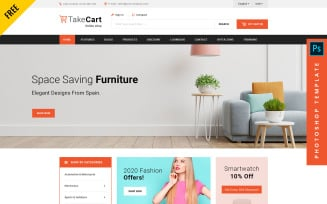 Takecart - eCommerce PSD Template