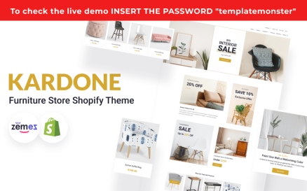 Kardone Furniture Store and Decor Shopify Theme