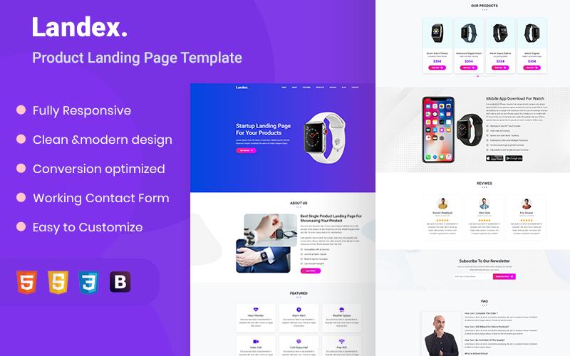 Landex - Landing Page HTML5 Template