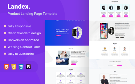 Landex - Landing Page HTML5 Template Landing Page Template