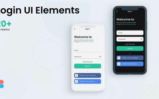 Login UI Elements 3 Themes
