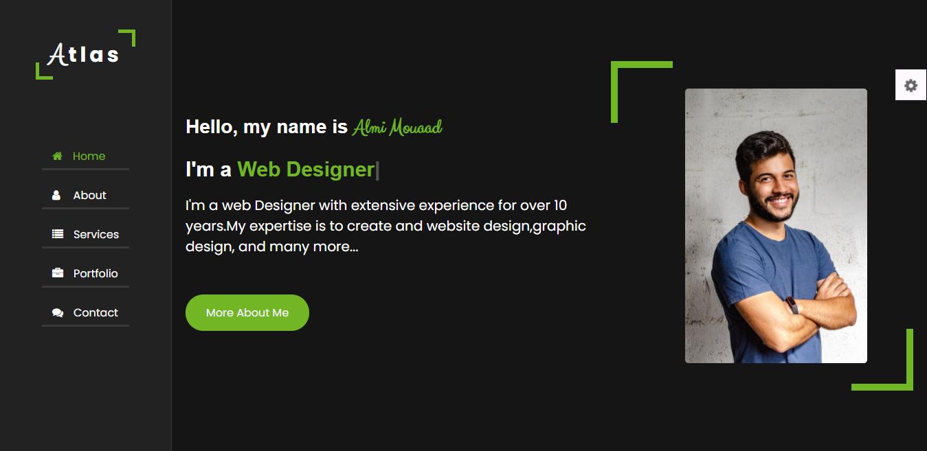 """Atlas- Сreative Portfolio Html Theme Website Template"" 网页模板 #167223"