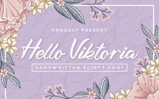 Hello Viktoria - Handwritten Cursive Font