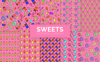 Sweets Seamless Patterns