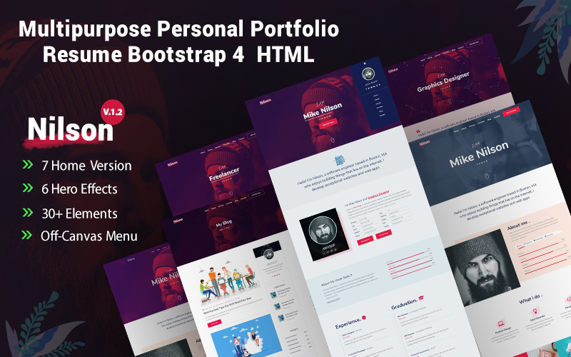 Nilson - Multipurpose Personal Portfolio Resume Website Template