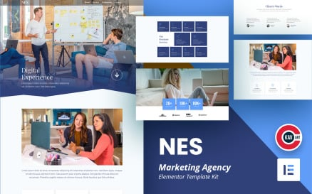 Nes - Marketing Agency Elementor Kit Template