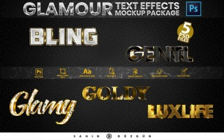 Glamour | Text-Effects/Mockups | PSD Template