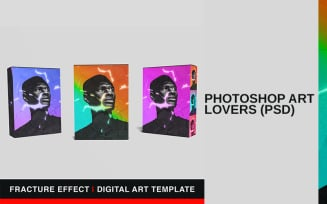 Fracture Effect | Digital Art Template | Photoshop PSD Fully Editable