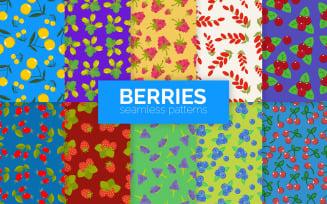 Berries Seamless Patterns
