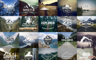 25 Camping Logos Badges | Adventure SVG Collection - Vector Images Graphics Templates