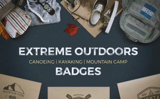 9 Camping Logos Bundle | SVG Badges Collection - Vector Images Graphics Templates