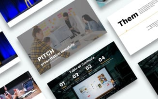 Free Pitch Presentation PowerPoint template