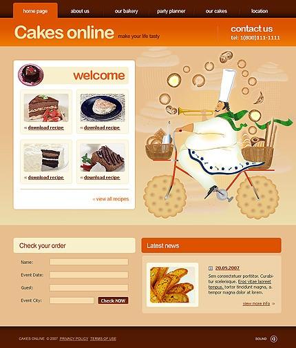Pagini web laborator prajituri