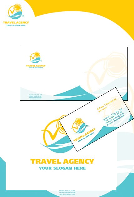 Travel agency corporate identity template 16853 travel agency corporate identity template spiritdancerdesigns Choice Image