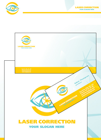 Optometrist's Corporate Identity Template Vector Corporate Identity preview