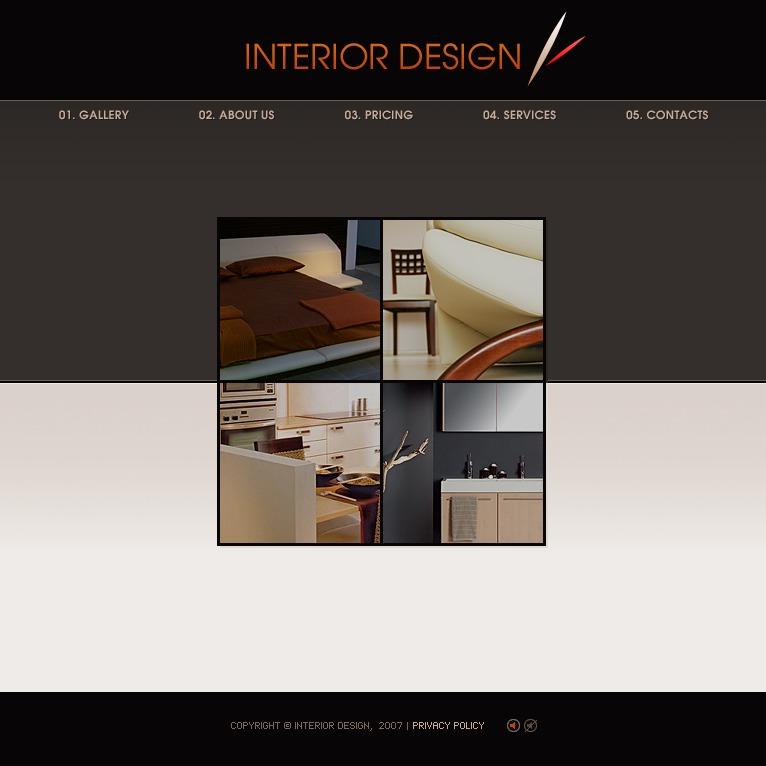 Interior Design Flash Template 19551: Interior Design Flash Template #16980