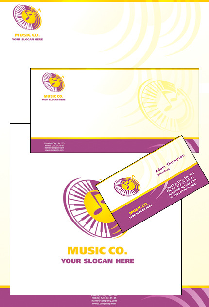 Music Store Corporate Identity Template Vector Corporate Identity preview