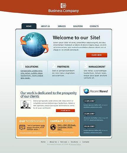 Многостраничный CSS-шаблон для сайта (главная и внутренние страницы) (17069)