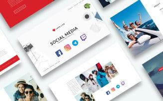 Free Social Media Presentation - Keynote template