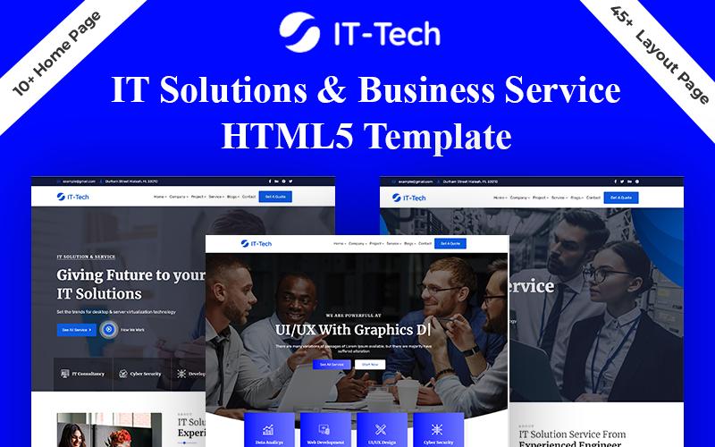 IT-Tech IT Solution & Business Service HTML5 Template