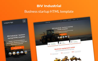 BIV Industrial - Business Startup HTML Landing Page Template