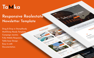 Tamka - Real Estate Email Newsletter Template with Stampready Builder