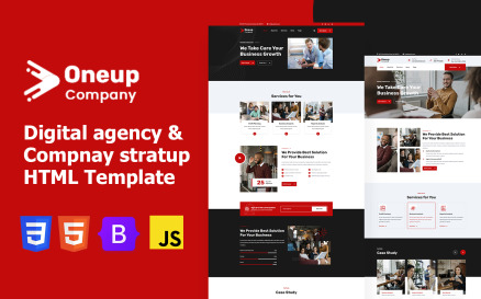 Oneup Company - Digital Agency Html Website Template