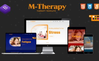M-Therapy Landing Page Template