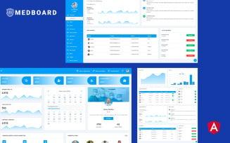 Medboard Angular Medical Admin Dashboard Template