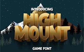 High Mount | Playful font