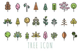 Modern Tree Iconset template
