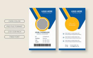 Employee ID Card Design Corporate Identity Template