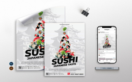 Sushi vol.1 - Flyer, Poster RB Corporate Identity Template