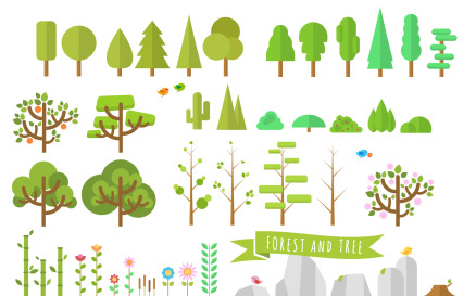 Forest & Tree Illustration Vector Vector Graphic