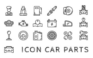Car Parts Iconset Template