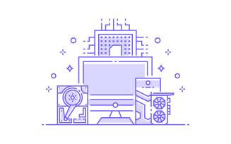 Computer Hardware - Illustration Concept