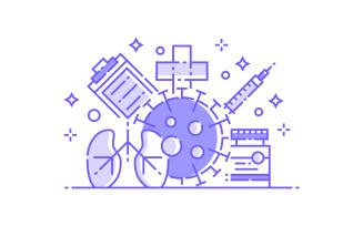 Coronavirus and Medical - Illustration Concept