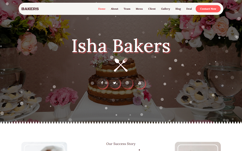 Bakery - Multipurpose Landing Page Templates