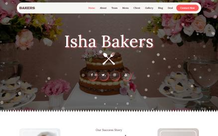 Bakery - Multipurpose Landing Page Template